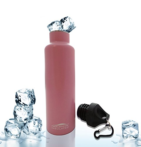 Pink 21 Oz Double Wall Vacuum Insulated Thermal Bottle Personal Hydration Eco Friendly Sports Water Bottle Keeps Your Water Cold for 24 Hours and Hot for 12 Hours!!! Does Not Sweat! Perfect for Yoga, Soccer, Basketball, Fitness, Exercise, Football, Golf, Outdoor, Hiking, Rock Climbing Hunting, Fishing, Softball, Baseball Too! Maximum Chill Factor