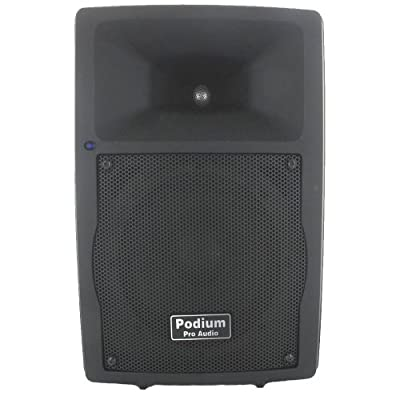 Podium Pro Audio PP807A1 Bluetooth 8-Inch 400 Watts USB SD MP3 Active Speaker