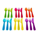 Ikea Kalas Childrens Cutlery Set / Microwave and Dishwasher Safe / 18 Pieces