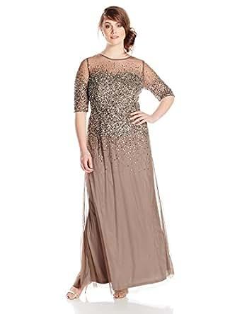 Amazon.com: Adrianna Papell Women's Plus-Size Beaded