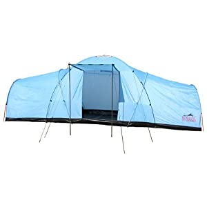 Redstone 8 Man u0026 10 Man Tunnel Tent u2013 2 x Bedrooms + Large Living Room Area u2013 Berth/Person/Family C&ing u2013 Fully Integrated Sewn in Raised Groundsheet ...  sc 1 st  uk tent c&ing site & Redstone 8 Man u0026 10 Man Tunnel Tent - 2 x Bedrooms + Large Living ...