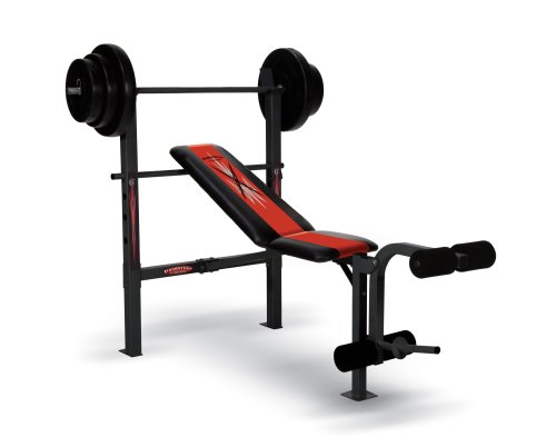 Competitor Weight Bench with 100-Pound Weight Set