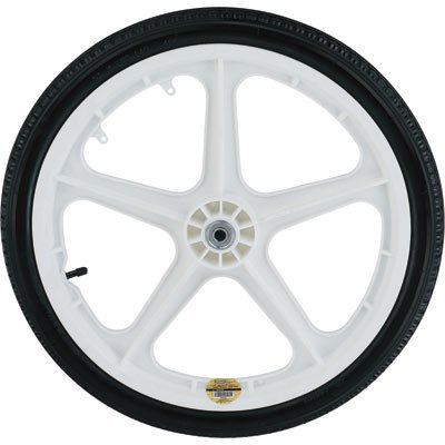 Northern Industrial Poly Wheel and Tire for Garden Carts - 20in., White Spoked