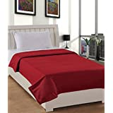 Warmland Fleece Solid Polyester Single Blanket - Red