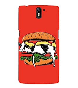 EPICCASE Cow Sandwich Mobile Back Case Cover For OnePlus One (Designer Case)