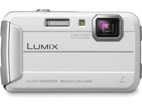Panasonic Lumix DMC-TS25 16.1 MP Tough Digital Camera with 8x Intelligent Zoom (White)