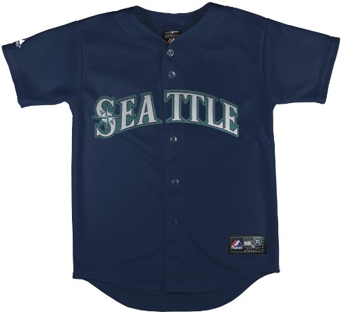 MLB Seattle Mariners Alternate Replica Jersey, Navy, 4 Toddler at Amazon.com