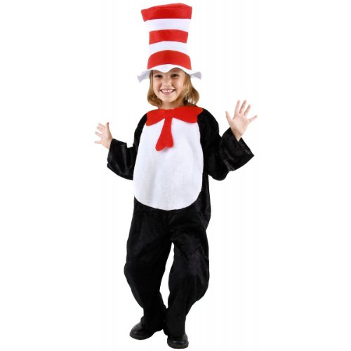 Big Boys' Cat In The Hat Costume Small (4 - 6)