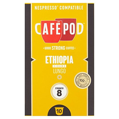 Find CafePod Origins Ethiopia Nespresso Compatible Capsules 10 per pack from CafPod