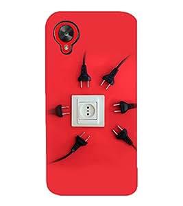 printtech Switch Socket Design Back Case Cover for LG Google Nexus 5::LG Google Nexus 5 (2014 1st Gen)