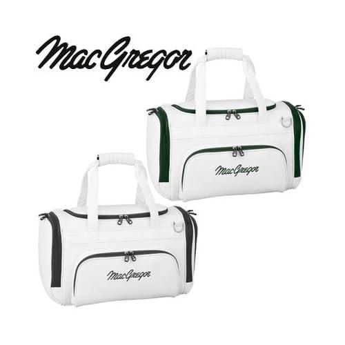 【2010年モデル】マグレガー ゴルフ ボストンバッグ MGBB3 ホワイト×ブラック<br />