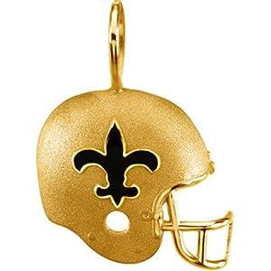 New Orleans Saints 14kt Gold Helmet Pendant