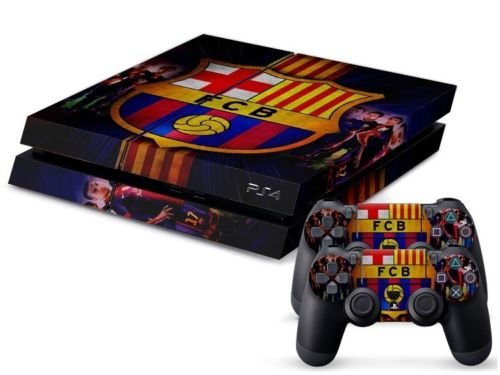 2612 Game Room® : Playstation 4 Vinyl Skin Console Skin & Remote Controllers Skin - Best Soccer Ball Fcb Team Sticker By Asia Trendy Shop