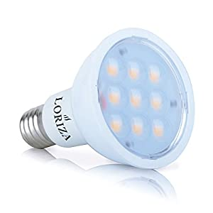 LORIZA® Dimmable E17 LED Bulb Reflector R14 Light 4w White Shell Lamp 60 Degree (Cool White)