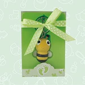 36 baby shower baby bumblebee keychain favor in box favors