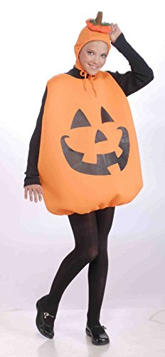 Jack-o-Lantern Carved Pumpkin Adult Unisex Halloween Costume Orange Black Tunic