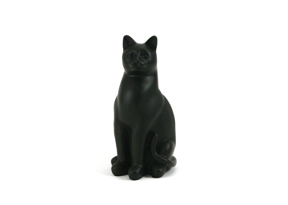 Near & Dear Pet Memorials Elite Cat Resin Cremation Urn, 25 Cubic Inch, Black dear zari