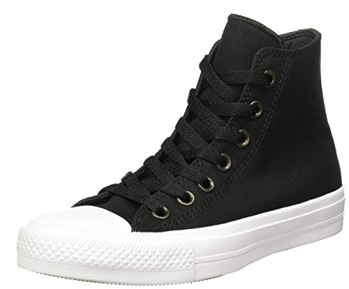 Converse Men's Chuck Taylor All Star II OX Casual Shoes Black/White/Navy 150143C, US Men 7.5
