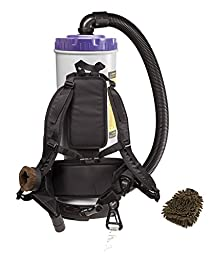 Proteam Quartervac Super HEPA Backpack Vacuum with Commercial Home Kit, 6 Quart (Complete Set) w/ Bonus: Premium Microfiber Cleaner Bundle