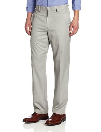 Geoffrey Beene Men's Silky Finish Comfort Waist Pant, Beige, 34x30