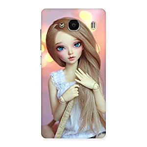 Delighted Doll With Bag Multicolor Back Case Cover for Redmi 2 Prime