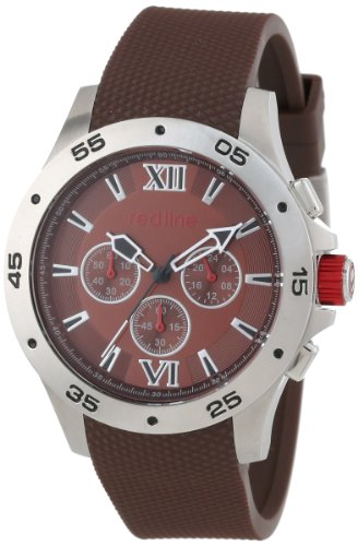 Red Line Spark 60031 46mm Stainless Steel Case Rubber Mineral Men's Watch