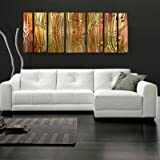 "Abstract by Ash Carl Metal Wall Art in Metallic - 23.5"" x 60"" ~ All My Walls"