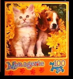 Mega Brands Menagerie Fluffy Friends 100 Piece Jigsaw Puzzle - 1