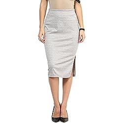 RARE Gray Pencil Knee Length Skirts for Women