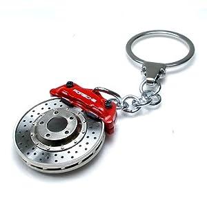 Porsche Red Racing Brake Disc Key Chain from Porsche