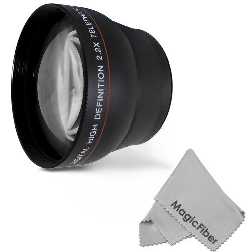 58Mm 2.2X Altura Photo Professional Telephoto Hd Lens For Canon Rebel (T5I T4I T3I T3 T2I T1I Xt Xti Xsi Sl1), Eos (700D 650D 600D 1100D 550D 500D 100D) Cameras + Magicfiber Microfiber Lens Cleaning Cloth
