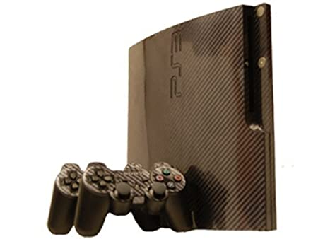 Sony PlayStation 3 Slim Skin (PS3 Slim) - NEW - CARBON FIBER system skins faceplate decal mod