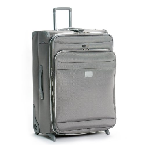 Delsey Luggage Helium Pilot 2.0 Lightweight 2 Wheel Rolling Suiter Upright, Platinum, 29 Inch best price
