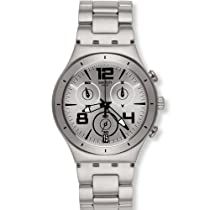 Swatch Down Grey Chronograph Stainless Steel Mens Watch YCS566G
