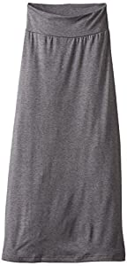 Amy Byer Big Girls' Solid Maxi Skirt, Grey, Medium