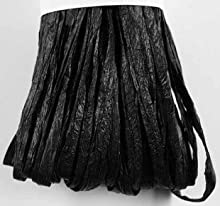 RAYHER - 5214901 - rayón rafia, matt, cuerda de 20 m, negro