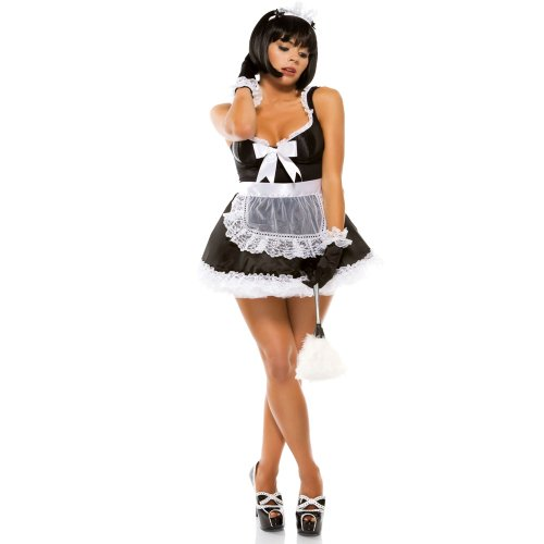 Forplay Women's Domesticated Delight Adult Sized Costumes, Black, Large/X-Large