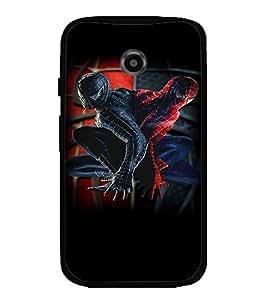 Printvisa Spider Man Replica Pic Back Case Cover for Motorola Moto E2::Motorola Moto E (2nd Gen)