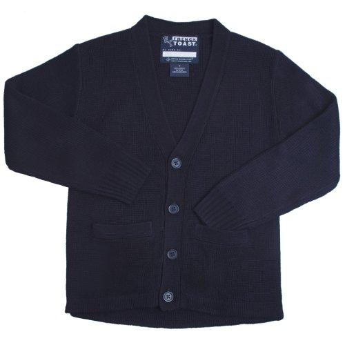 French Toast School Uniforms Anti-Pill V-Neck Cardigan Sweater Boys Navy 2T front-207109