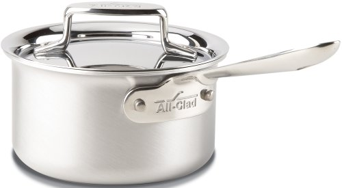 All-Clad BD55201.5 D5 Brushed 18/10 Stainless Steel 5-Ply Bonded Dishwasher Safe Sauce Pan Cookware, 1.5-Quart, Silver (All Clad Copper Sauce compare prices)