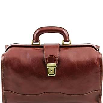 Amazon.com: Tuscany Leather - Raffaello - Doctor leather bag Brown