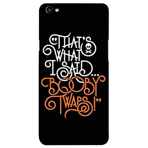 Dukancart Typography Back Cover for OPPO F1 S DCOF1S0809