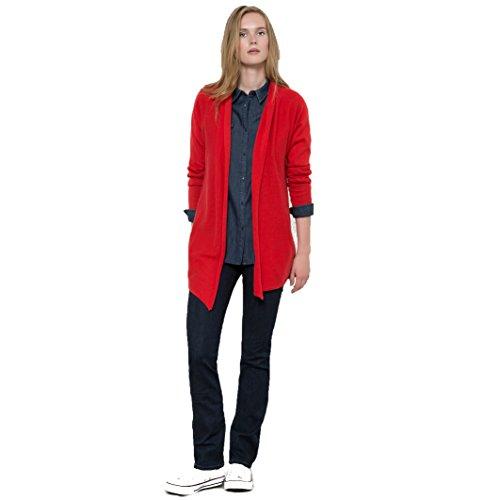R Essentiel Donna Gilet Aperto In Cotone Cachemire Taglia 3840 Rosso