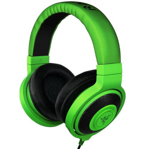 Brand New Razer Kraken Foldable Over Ears Cups 2.0 Stereo Music/Pc Gaming Headphones/Green