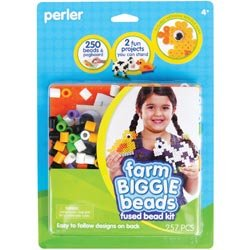 Perler Fun Fusion Biggie Fuse Bead Activity Kit Farm; 2 Items/Order