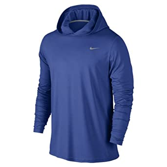 Nike Mens Dri-Fit Touch Pullover Game Royal/Dark Grey Heather/Dark Obsidian 559970-494 Size 2X-Large