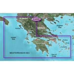 GARMIN BLUECHART G2 HXEU490S GREECE WEST COAST & ATHENS