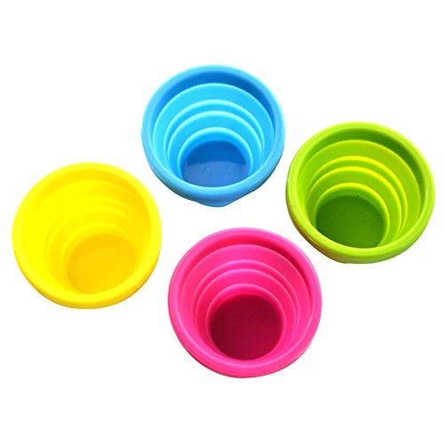 Generic Set Of 4 Telescopic Collapsible Silicone Folding Cup Outdoor Travel Camping Necessary