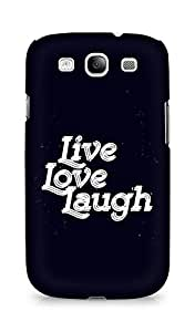 Amez Live Love Laugh Back Cover For Samsung Galaxy S3 i9300