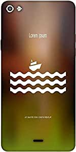 Snoogg Stylized Cruise Liner And Waves Designer Protective Back Case Cover For Micromax Canvas Silver 5 Q450